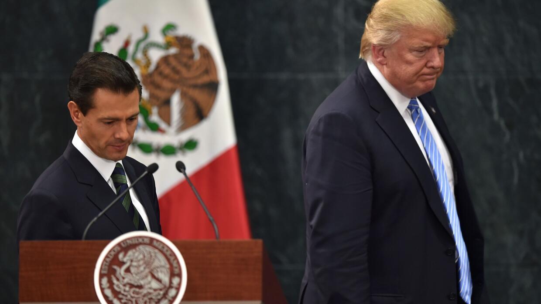 El encuentro de los más odiados entre los mexicanos: Peña Nieto y Trump