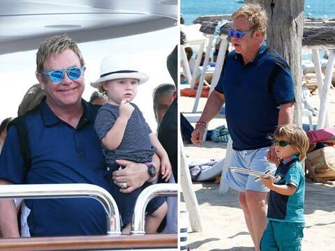 Elton John disfrutó con sus hijos y pareja de un tiempo bien mere...
