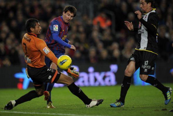 Con un toque suave de zurda, convirtió su gol numero 17 y alcanz&...