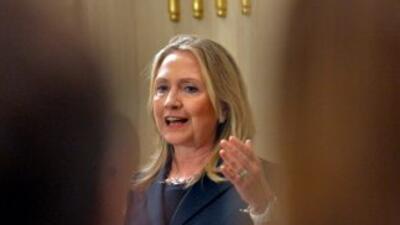 La secretaria de Estado estadounidense, Hillary Clinton.