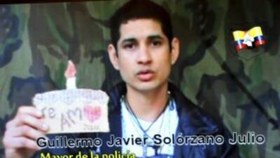 El cabo de la policía Guillermo Solórzano aún continúa en poder de las F...