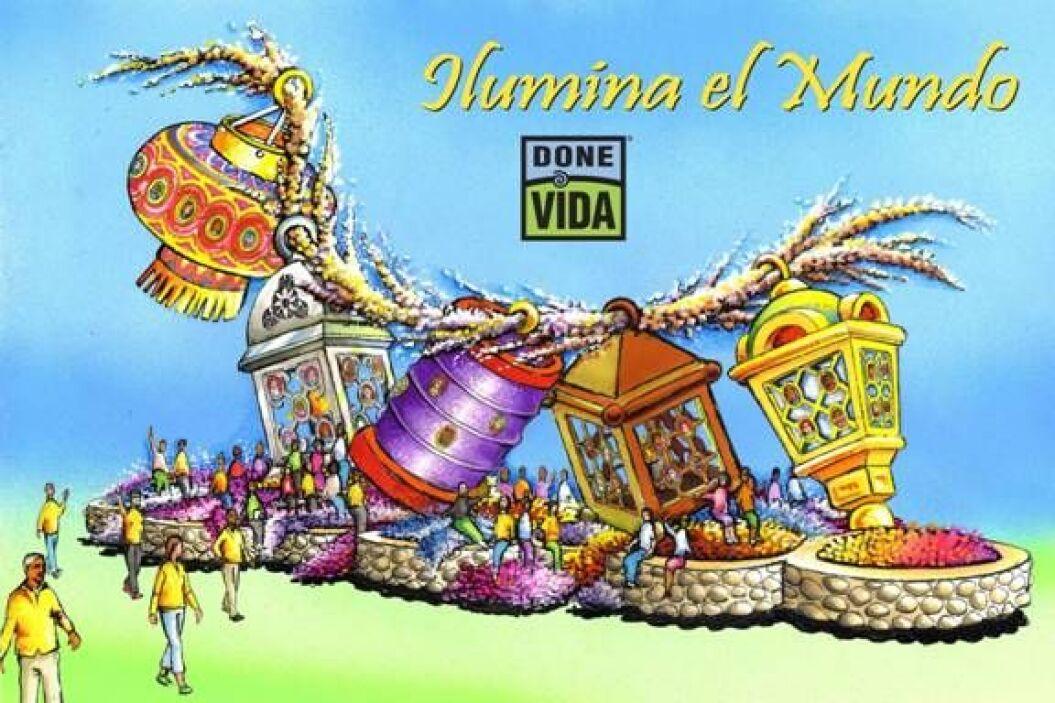 """""""Ilumina el Mundo"""" es el nombre de la carroza de la organización Done Vi..."""