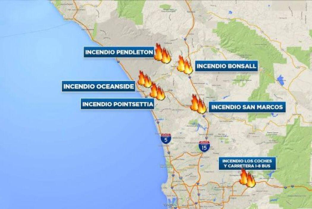 Una secuencia de violentos incendios forestales inusual para el mes de m...