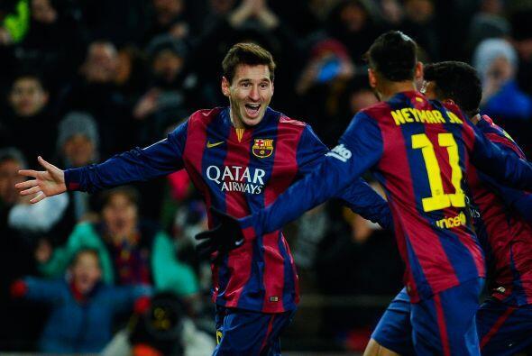 Lionel Messi (22 goles) y Neymar (15) se reparten casi el 65% de los tan...