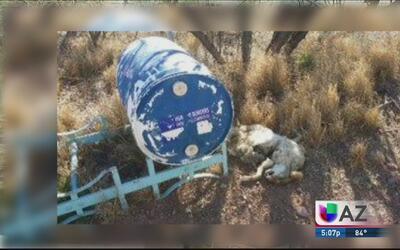 Seis barriles de agua fueron target de vandalismo