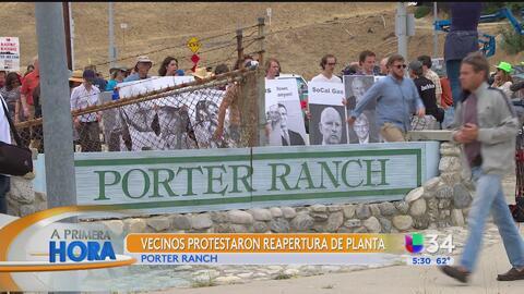 Exigen el cierre de la planta de gas en Porter Ranch
