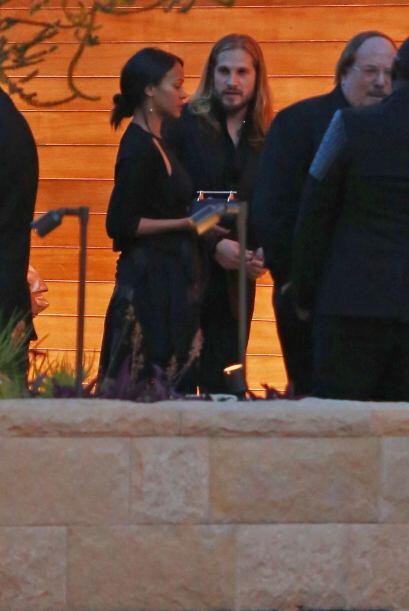Zoe Saldaña y su esposo Marco Perego.