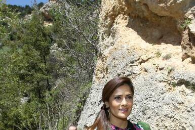 Salma Hayek visitó Líbano, de donde son originarios sus abuelos paternos...