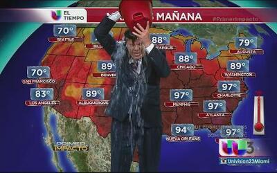 Eduardo Rodríguez aceptó sumarse al 'Ice Bucket Challenge'