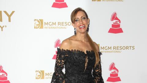 Lili Estefan durante los Latin GRAMMY's en el MGM Grand, el 16 de noviem...