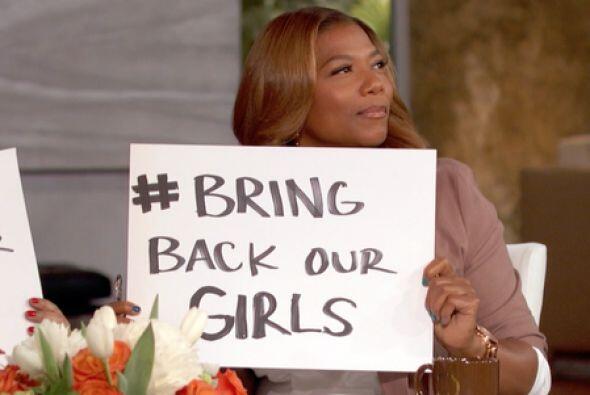 Queen Latifah pide por las niñas nigerianas. Fotos: Twitter