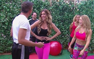 Claudia Molina mostró ejercicios para las abdominales