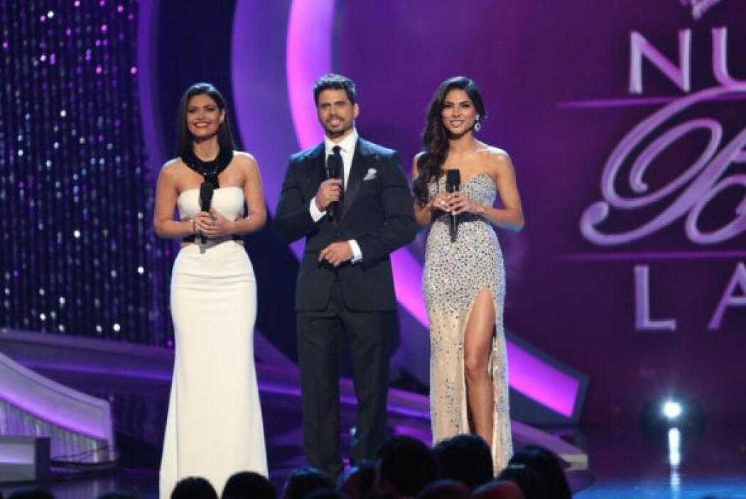 Alejandra Espinoza, Pedro Moreno y Chiquinquirá Delgado minutos antes de...