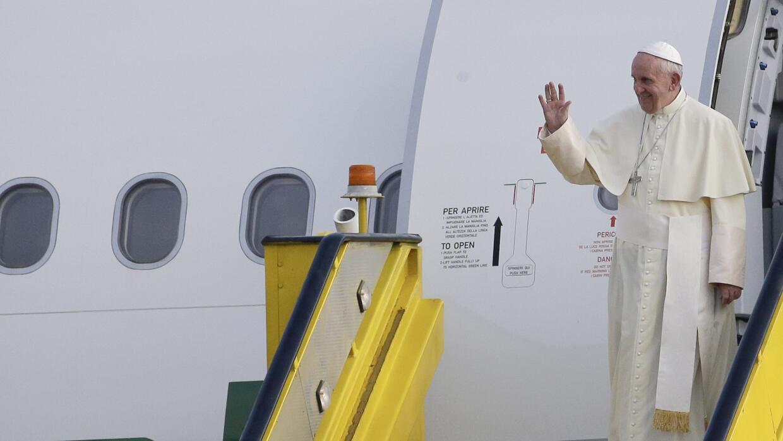 El papa Francisco llega a Uganda.
