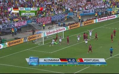Alemania gana su partido contra Portugal en un intenso combate