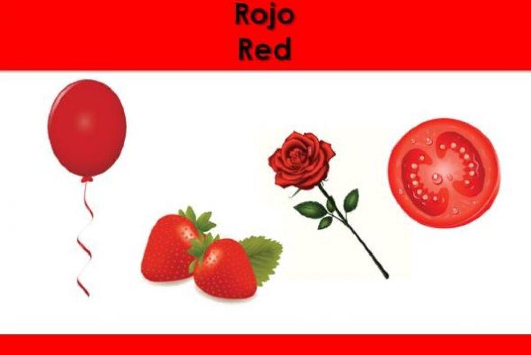 El color rojo. ¿Qué otras cosas son rojas?