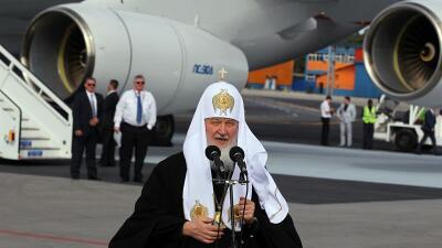 El patriarca ruso Kiril a su llegada a La Habana este jueves.
