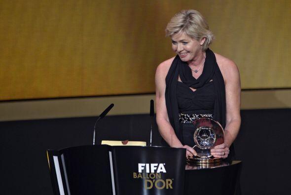 La responsablede la selección femenina alemana Silvia Neid fue el...