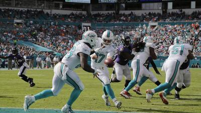 Dolphins 15-13 Ravens: Lamar Miller 113 yardas y Miami sale de mala rach...