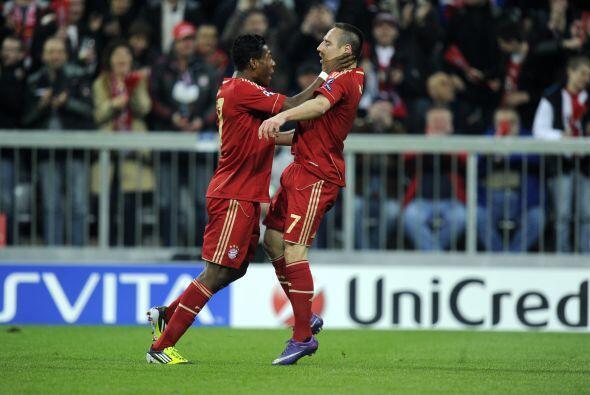 Se notaba la alegría entre los futbolistas bávaros.