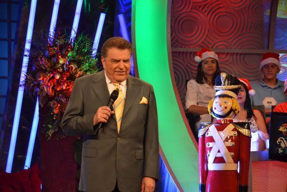 Ya con el espíritu navideño en todo el programa, entonces...