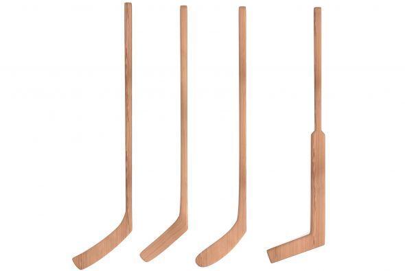 Arte con palos de hockey. Cuelga palos de hockey a diferentes alturas so...
