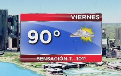 Cielo mayormente despejado, calor y lluvia ligera para este viernes en M...