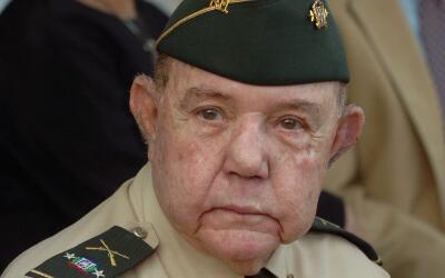 El héroe nacional dominicano Antonio Imbert Barreras, único supervivient...