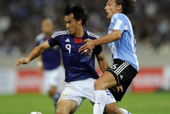 Shinji Okazaki fue fundamental en el equipo dirigido por el italiano Alb...