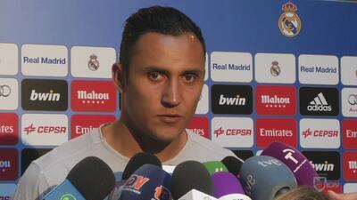 Keylor Navas feliz por estar en la historia del Real Madrid