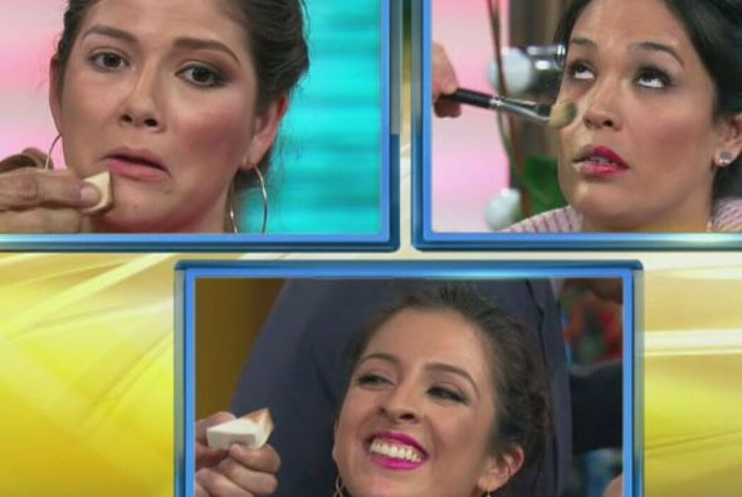 Alan, Johnny y Raúl no fueron nada delicados a la hora de maquillar.