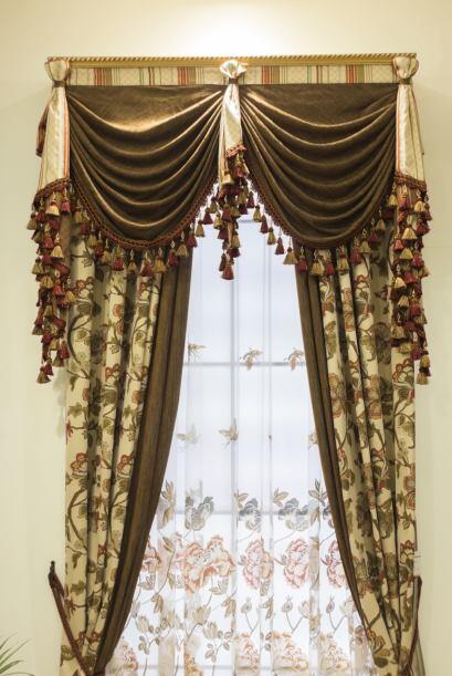 Cortinas tipo globo. Estos pliegues opulentos de la tela aportan suavida...