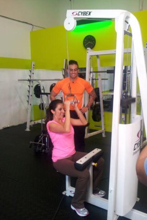 Maity puso mucho empeño en sus ejercicios.