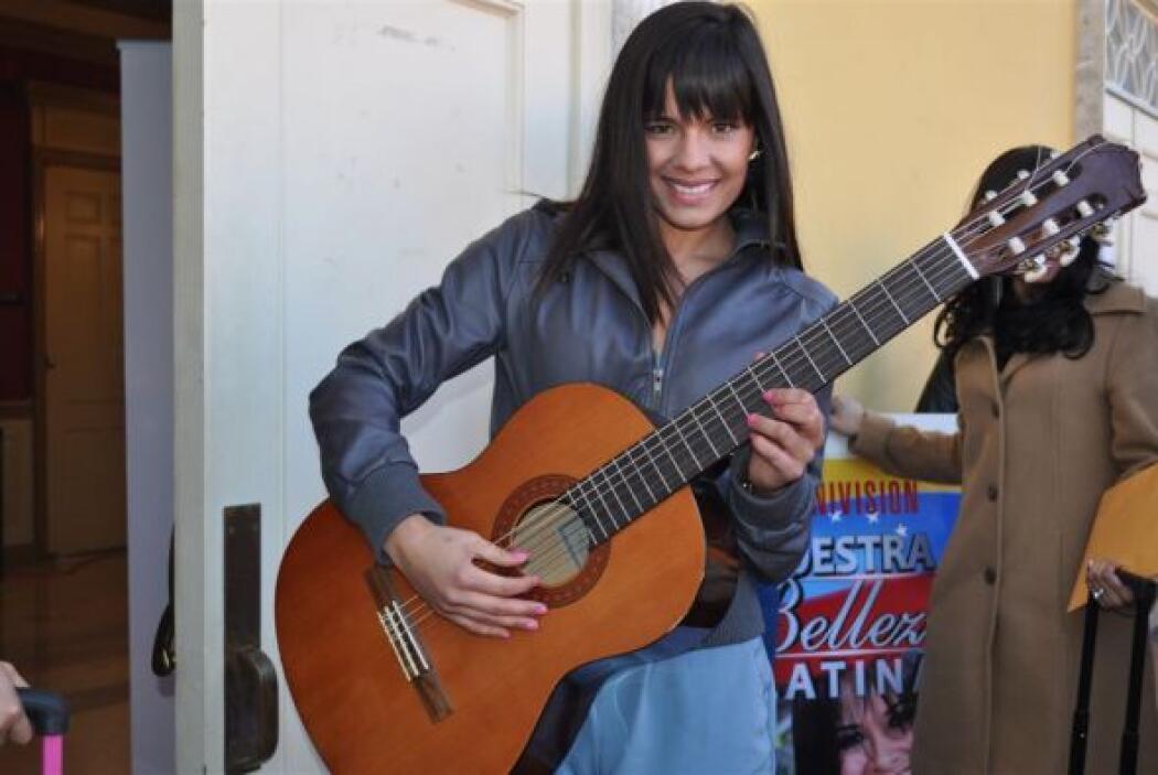 Esta participante audicionó en el casting virtual y trajo su guitarra pa...