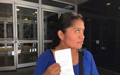 Aurora Díaz Ramírez tiene 45 años, tres hijos que m...