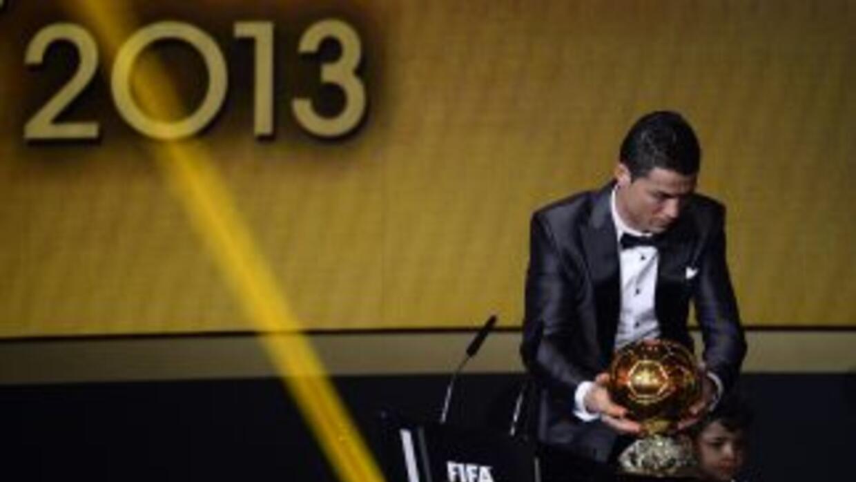 Cristiano Ronaldo, ganador del Balón de Oro 2013.
