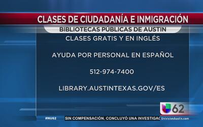 Biblioteca Pública de Austin da clases de ciudadanía gratuitas