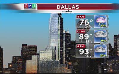 Dallas tendrá un martes ligeramente nublado y caluroso