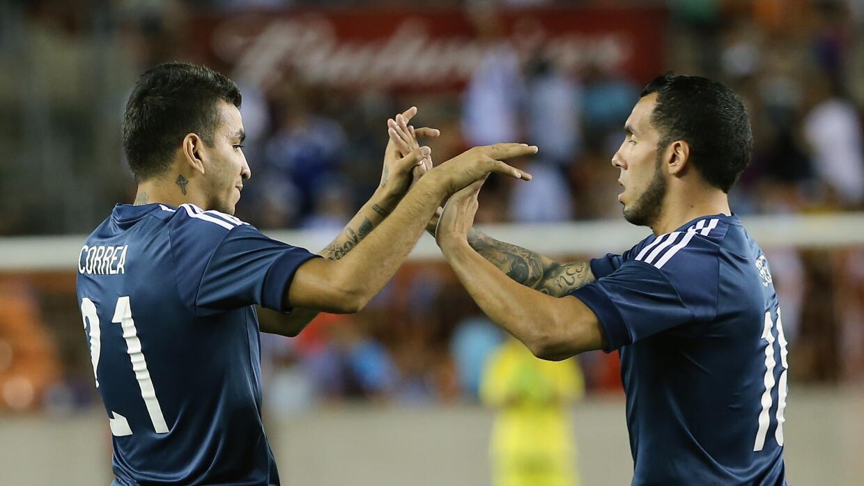 Argentina se alista para su duelo contra el Tri.