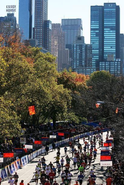 Central Park en el centro de Manhattan, el cual se extiende desde la Cal...