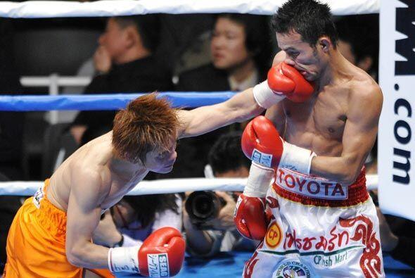 EN otra pelea de campeonato, el japonés Yasutaka Kuroki le dio problemas...