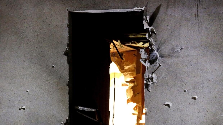 Imagen de cómo quedó la ventana tras la explosión