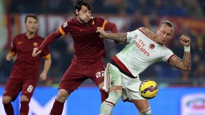 Los giallorossi no pudieron romper el cero ante el cuadro lombardo.
