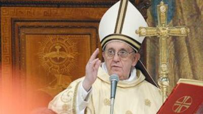 El papa Francisco, durante un sermón el sábado emn Roma, tres días ants...