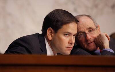 Senadores Marco Rubio y James Risch