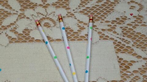 DIY: Manualidades para lápices de confetti