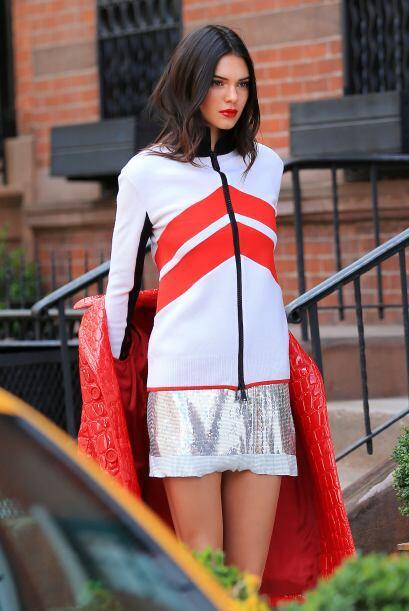 La modelo posó en las calles de Manhattan.