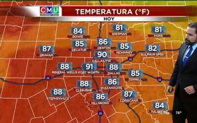 El tiempo: tornados y 90 grados