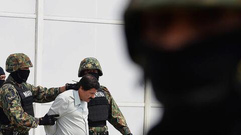 """""""El Chapo"""" fue recapturado en enero de 2016 en Sinaloa, donde se refugio..."""
