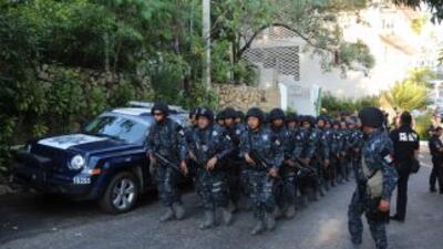 Federales llegan a Acapulco de Juárez. Fotografía del Gobierno de México.